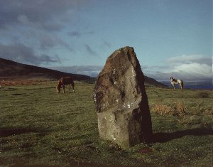 The witches stone at Mitchells Fold