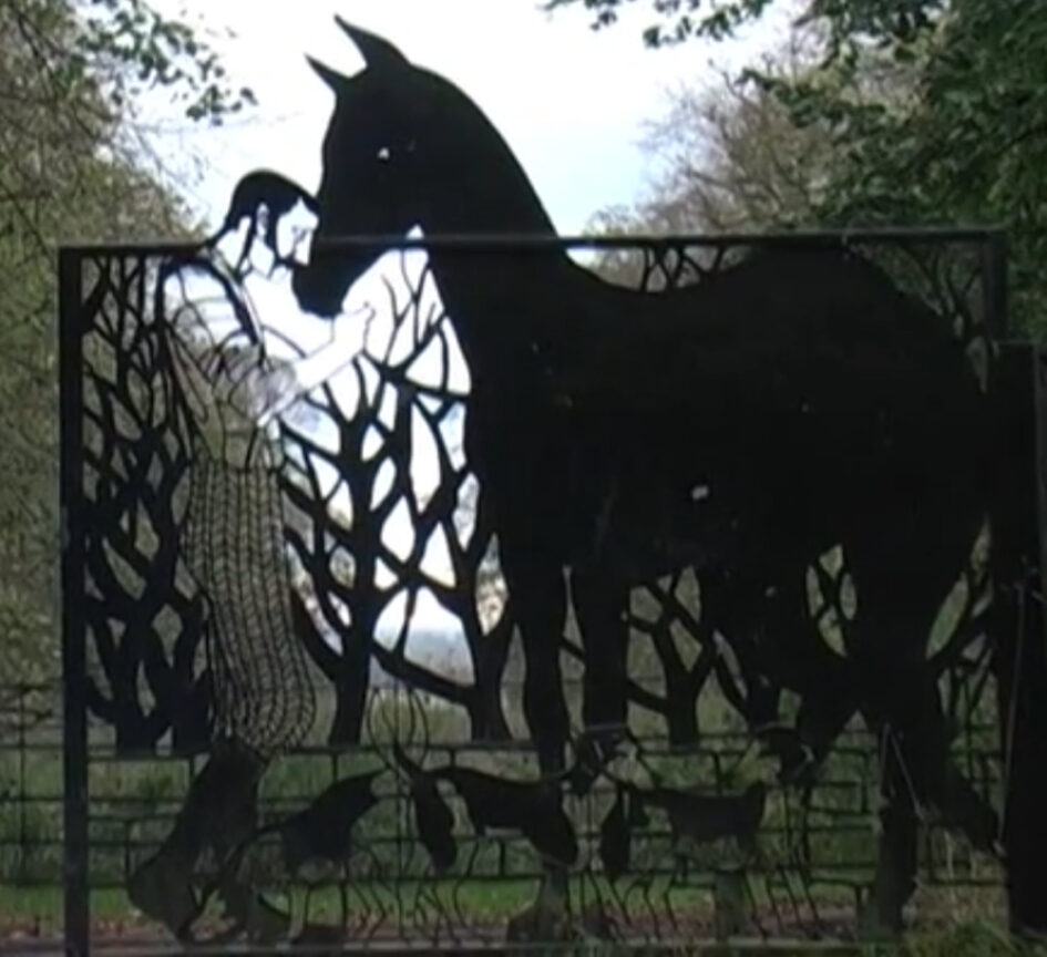 The gates of Apley Woods; could this be Tom Moody? image