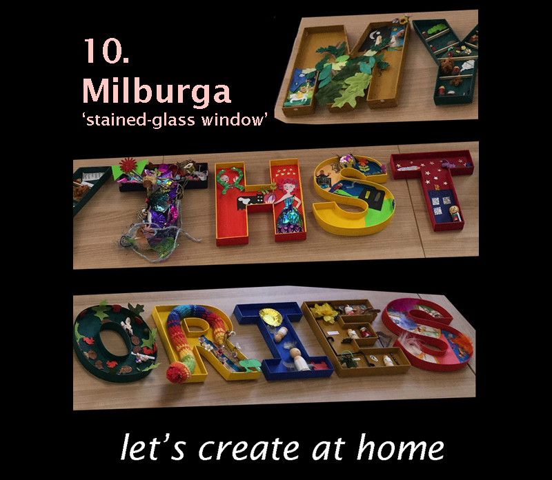 Image for let's create at home 10. Milburga 'stained-glass window'