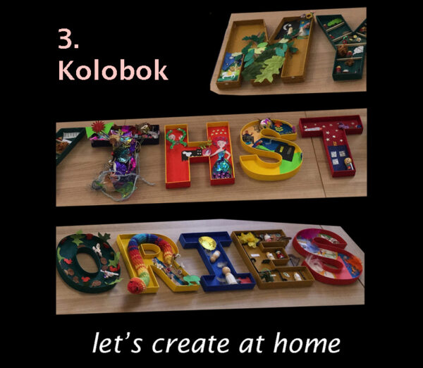 let's create at home - kolobok image