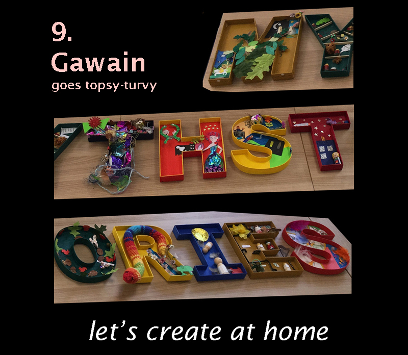 let's create at home - Gawain goes topsy-turvy image