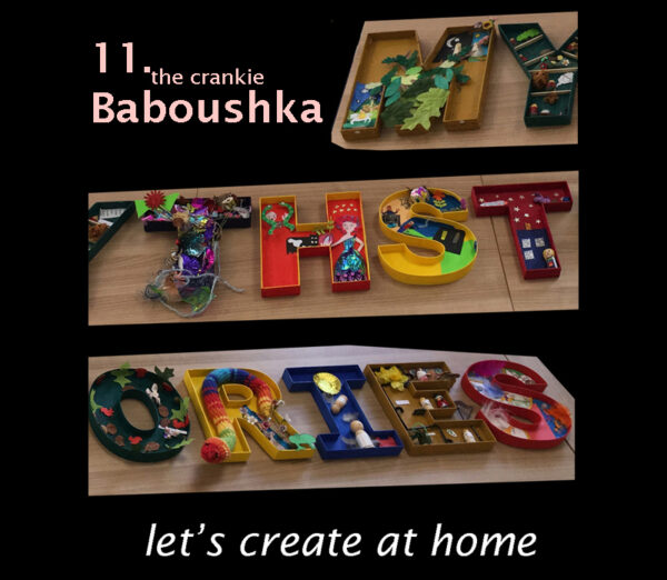 let's create at home - the crankie Baboushka image