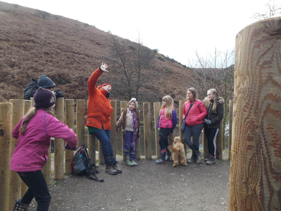Amy telling in Carding Mill Valley early January 2020