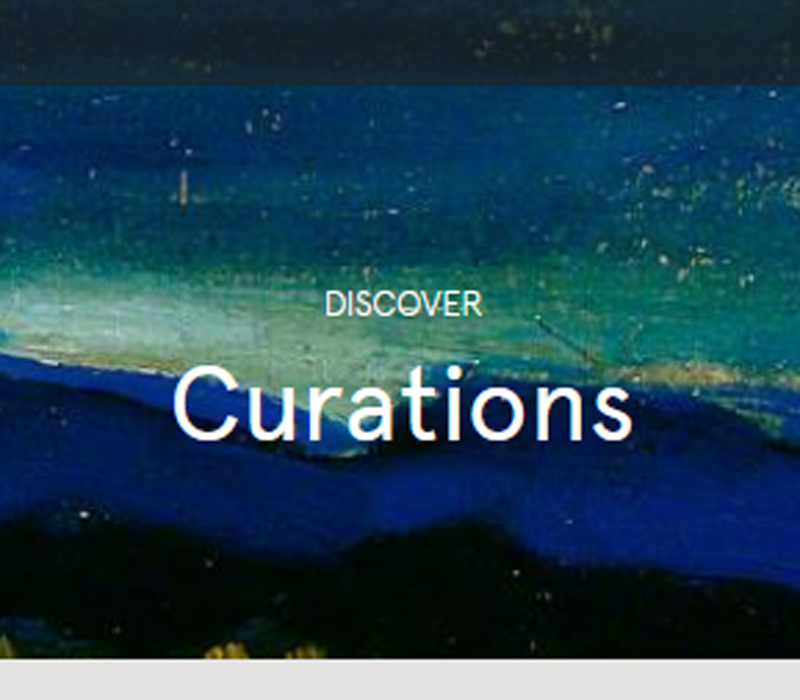 Image of Curations page on ArtUK website
