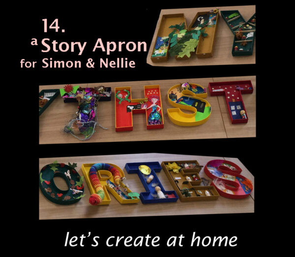image for let's create at home 14 - a Story Apron for Simon and Nellie